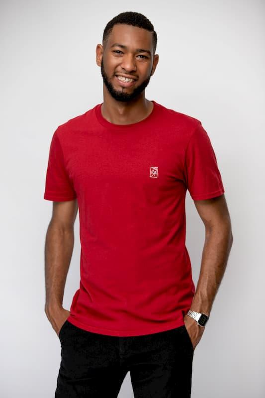 le t-shirt à col rond rouge FA (1)