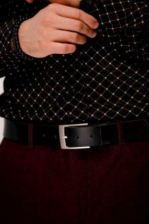 La ceinture minimaliste en cuir boucle brossée